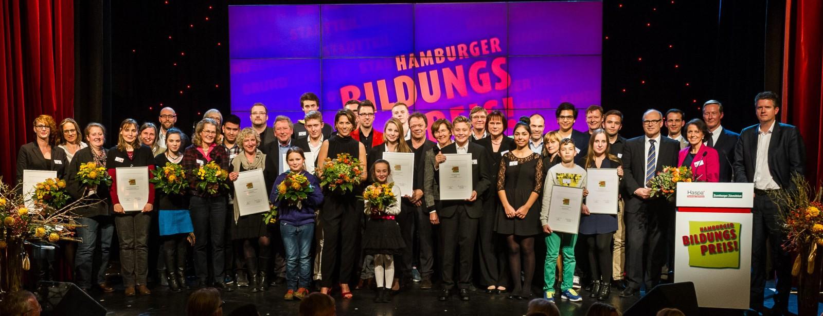 Hamburger Bildungspreis Nov 2014 alle Preisträger