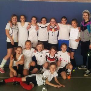 Die Mädchenfußballmannschaft vom Corvey