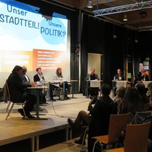 Im Gespräch über die Flüchtlingspolitik