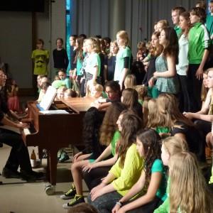 Der Chor beim Sommerkonzert 2014