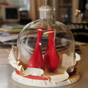 Biologie-Luftballon-Lunge