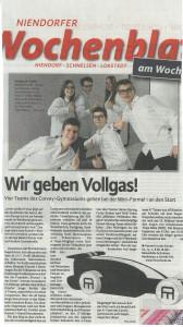 Wir geben Vollgas! Niendorfer Wochenblatt, 13.02.2016