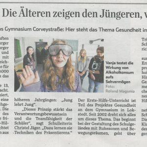 Hamburger Abendblatt am 20.11.14 zum Bildungspreis für Corvey
