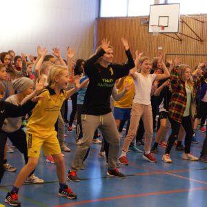 Gesundheitstag 2015 - Bewegungsprogramm in der Sporthalle